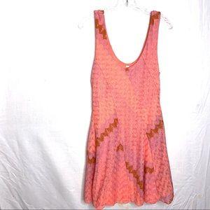 Free People Coral Skater Dress Size Medium